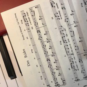 «Des Rides» Partition piano-voix