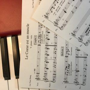 «Le Coeur est un muscle» Partition piano-voix