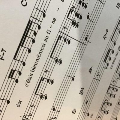 «Chanson qui parle» Partition piano-voix